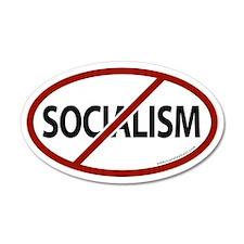 No Socialism 20x12 Oval Wall Peel