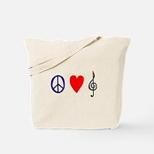 Peace,Luv ,Music Tote Bag