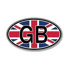 Great Britain Euro 35x21 Oval Wall Peel