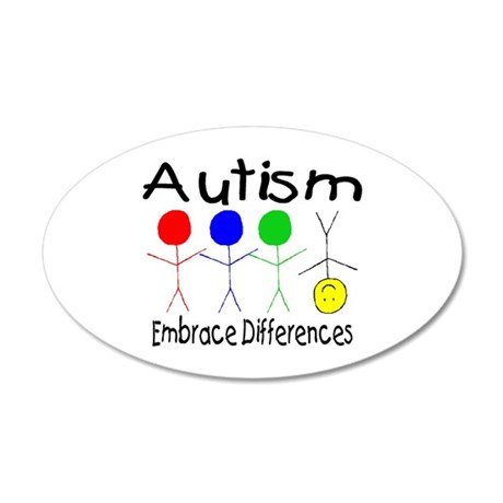 Autism, Embrace Differences 35x21 Oval Wall Peel