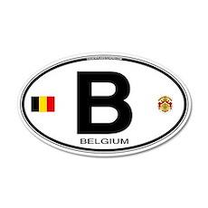 Belgium Euro Oval 20x12 Oval Wall Peel
