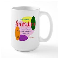 SANDRA Name Mug (15 oz)