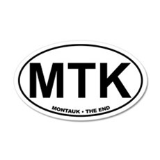 MTK Montauk The End 20x12 Oval Wall Peel
