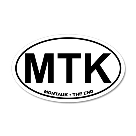 MTK Montauk The End 35x21 Oval Wall Peel