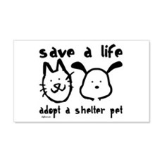Save a Life - Adopt a Shelter Pet Sticker (Rectang