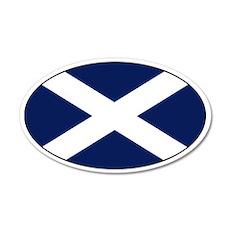 Scottish flag 20x12 Oval Wall Peel