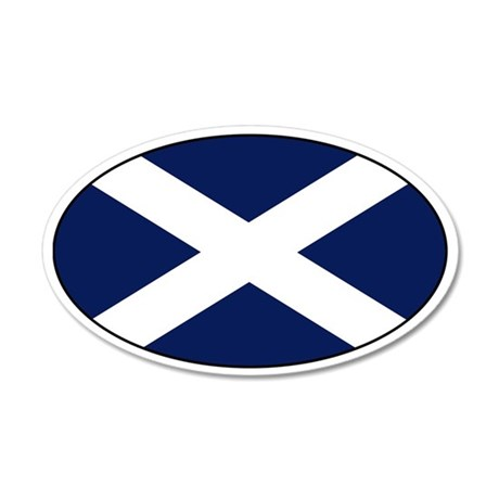 Scottish flag 35x21 Oval Wall Peel