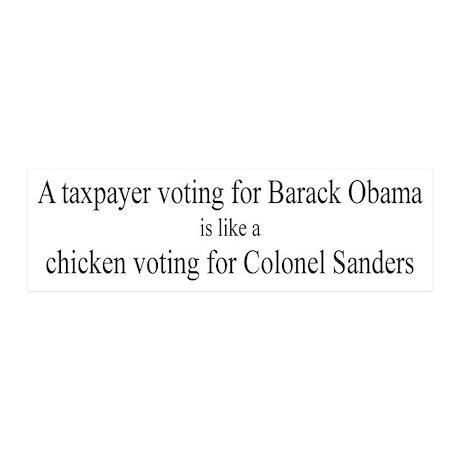 Taxpayer Voting Obama 20x6 Wall Peel