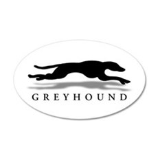 Greyhound 20x12 Oval Wall Peel