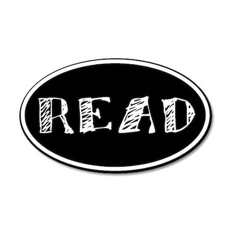 Read 35x21 Oval Wall Peel