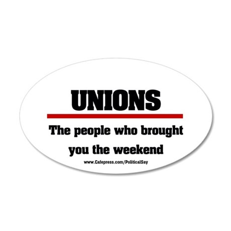 Union Weekend 35x21 Oval Wall Peel
