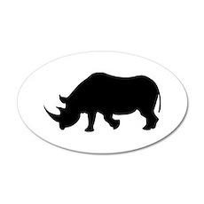 Rhino 20x12 Oval Wall Peel