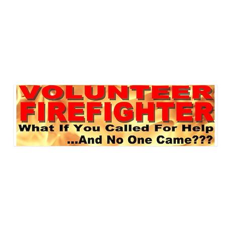 Volunteer Firefighter 20x6 Wall Peel