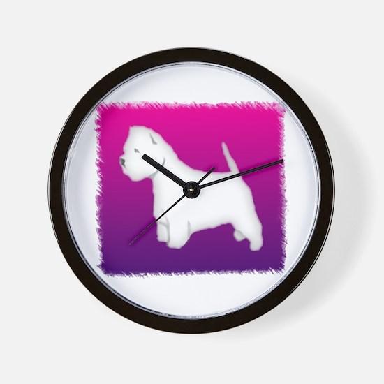 Lovely Westie Wall Clock
