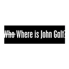 Who Where is John Galt 36x11 Wall Peel
