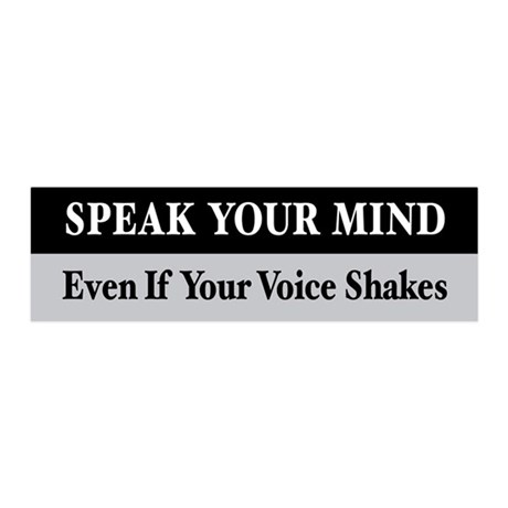 Speak Your Mind 36x11 Wall Peel