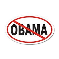 Anti Obama Euro 20x12 Oval Wall Peel