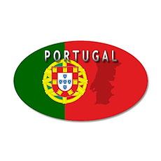 Portugal Flag Extra 20x12 Oval Wall Peel