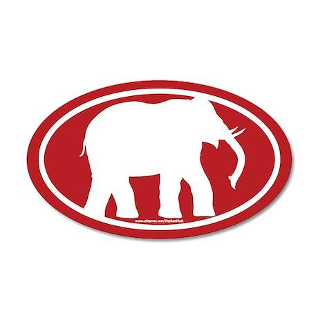 Red Elephant 20x12 Oval Wall Peel