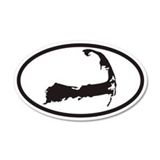 Cape Cod Euro 20x12 Oval Wall Peel with Map