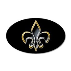 Fleur de Lis on BLK 20x12 Oval Wall Peel