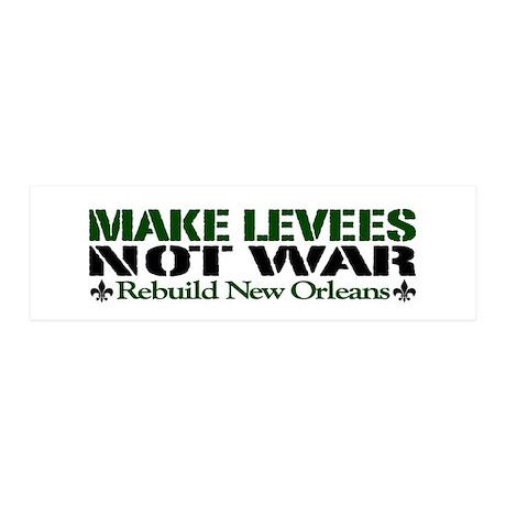 Make Levees Not War 36x11 Wall Peel