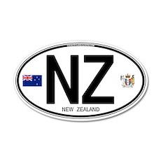 New Zealand Euro Oval 20x12 Oval Wall Peel