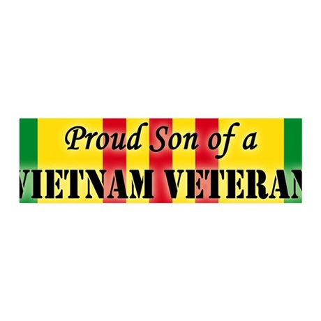 Proud Son of a Vietnam Vetera 36x11 Wall Peel