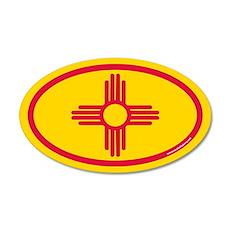 New Mexico Flag Euro 20x12 Oval Wall Peel