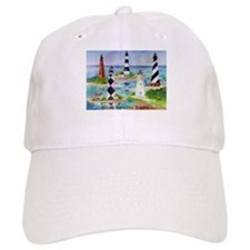 NC Light Houses Baseball Cap