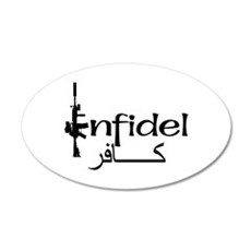 English Arabic Infidel 20x12 Oval Wall Peel
