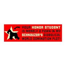 SCHNAUZER World Domination 36x11 Wall Peel