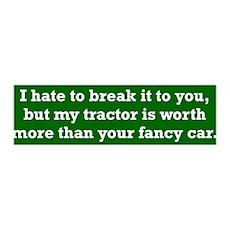 My tractor's worth... 36x11 Wall Peel