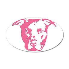 American Pit Bull Terrier 20x12 Oval Wall Peel