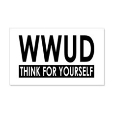 WWUD - Think For Yourself 20x12 Wall Peel