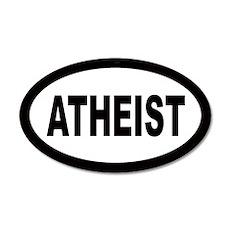 Atheist 35x21 Oval Wall Peel