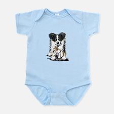 Tri-Color Border Collie Infant Bodysuit