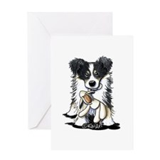 Tri-Color Border Collie Greeting Card