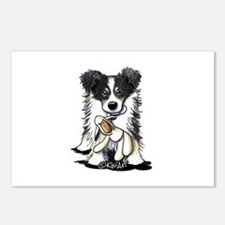 Tri-Color Border Collie Postcards (Package of 8)