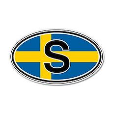 Sweden Euro 20x12 Oval Wall Peel