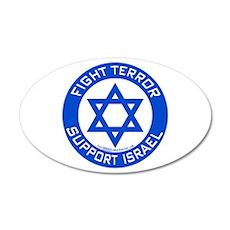 I Support Israel 20x12 Oval Wall Peel