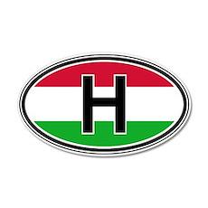 Hungary Euro 20x12 Oval Wall Peel