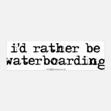I'd rather be waterboarding 36x11 Wall Peel