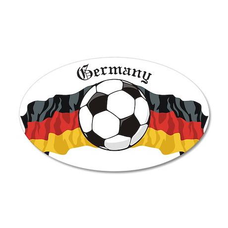 German Soccer / Germany Soccer 20x12 Oval Wall Pee