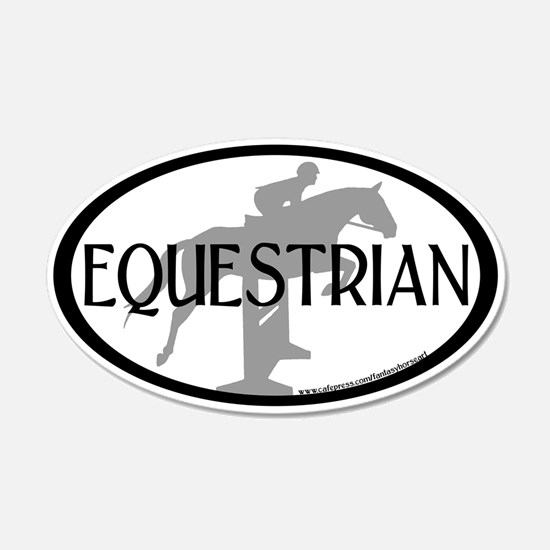 Hunter Jumper O/F (Equestrian text) Wall Decal