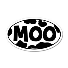Moo 20x12 Oval Wall Peel