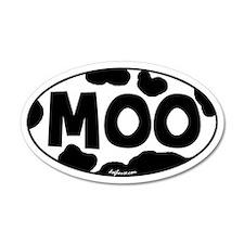 Moo 20x12 Oval Wall Peel