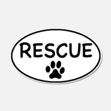 Rescue White Oval 20x12 Oval Wall Peel