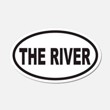 THE RIVER Euro 20x12 Oval Wall Peel