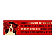 Border Collie Honor Student 36x11 Wall Peel